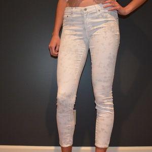 White Acid Wash Skinny Jeans